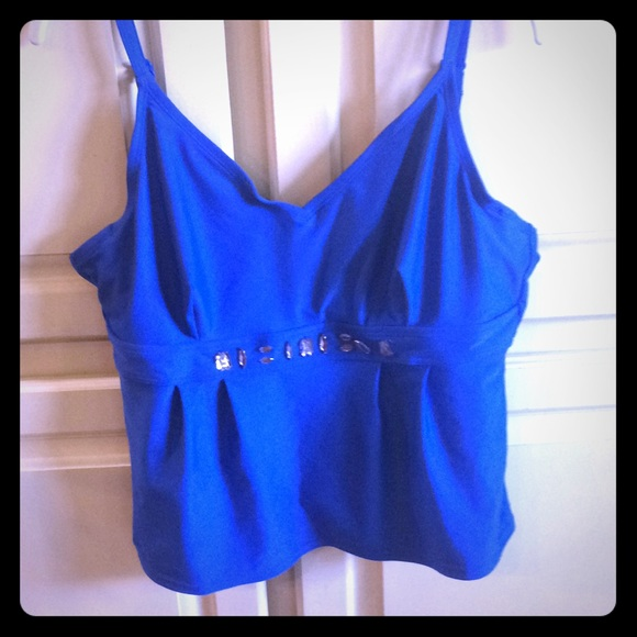 St. John's Bay Other - 🌟 2 for $30.  Royal blue tankini top.  Size 16.